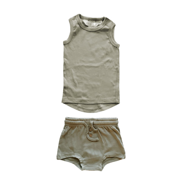 Organic Vest and Shorts Set