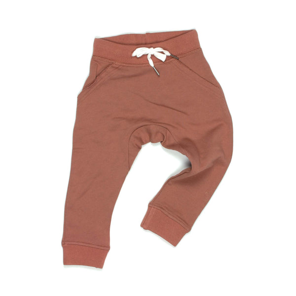 Susukoshi cozywear trousers in terracotta