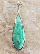 Load image into Gallery viewer, Custom Wire Wrapped Amazonite Amelia County VA Necklace/Pendant Sterling Silver