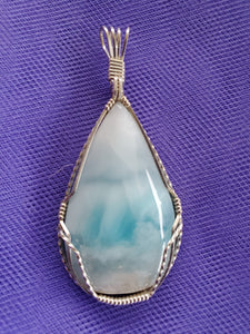 Custom Larimar From Dominican Republic Necklace