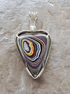 Custom Fordite Heart Necklace