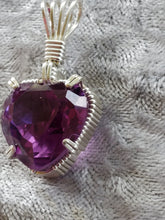 Load image into Gallery viewer, Custom Wire Wrapped Alexandrite Heart (corundum) Faceted Necklace