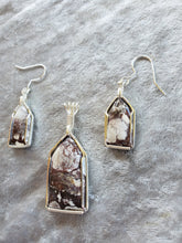 Load image into Gallery viewer, Custom Wild Horse Jasper set Earrings/necklace In Sterling Silver