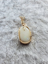 Load image into Gallery viewer, Custom Wire Wrapped Opal from Lightening Ridge Australia Necklace/Pendant 14kgf
