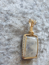 Load image into Gallery viewer, Custom Wire Wrapped Moonstone Necklace/Pendant 14kgf