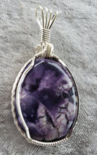 Load image into Gallery viewer, Custom Wire Wrapped Tiffany Stone Necklace/Pendant in Sterling Silver Wire