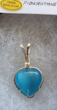 Load image into Gallery viewer, Custom Fiberstone (cats eye) Necklace in Sterling Silver