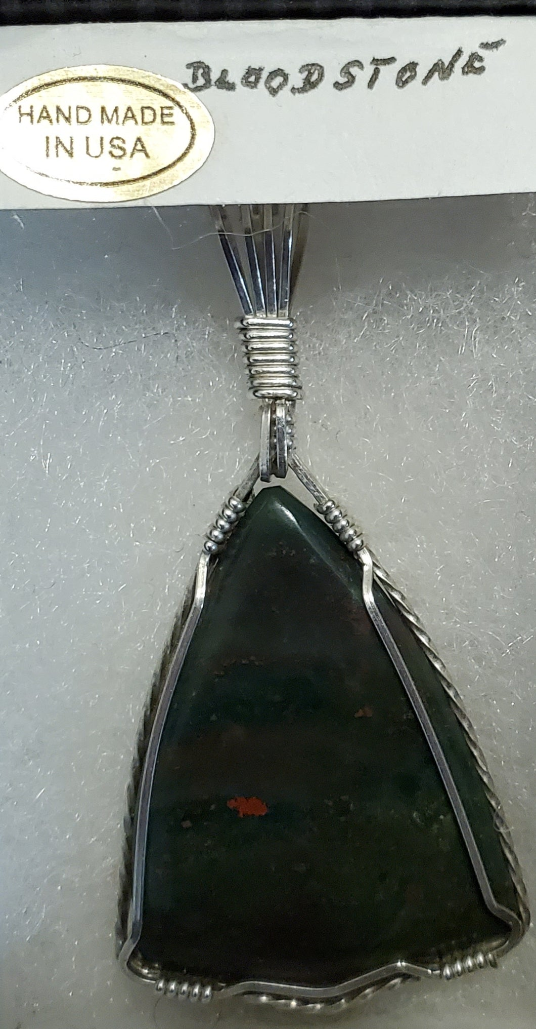 Custom Bloodstone Necklace/Pendant in Sterling Silver