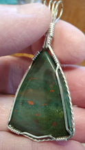 Load image into Gallery viewer, Custom Bloodstone Necklace/Pendant in Sterling Silver
