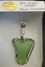Load image into Gallery viewer, Custom Sea Glass Heart Necklace/Pendant in Sterling Silver
