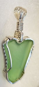 Custom Sea Glass Heart Necklace/Pendant in Sterling Silver