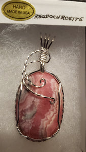 Custom Rhodochrosite Necklace/Pendant Sterling Silver