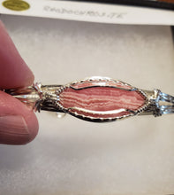 Load image into Gallery viewer, Custom Rhodochrosite Bracelet in Sterling Silver Wire