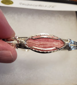 Custom Rhodochrosite Bracelet in Sterling Silver Wire
