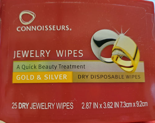 Connoisseurs Jewelry Wipes/Recommended Jewelry Cleaner