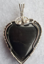 Load image into Gallery viewer, Custom Hokie Stone VA Tech Gray Quarry Heart Necklace/Pendant Sterling Silver