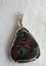 Load image into Gallery viewer, Custom Wire Wrapped Eudialyte Necklace/Pendant in Sterling Silver
