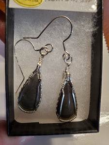 Custom Hokie Stone Earrings Gray Quarry Sterling Silver