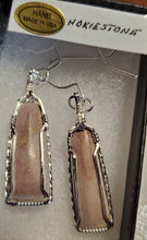 Load image into Gallery viewer, Custom Hokie Stone Pink Quarry Unpolished VA Tech Earrings Sterling Silver