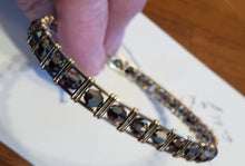 Load image into Gallery viewer, Custom Wire Wrapped 14kgf Bracelet with Hematite beads