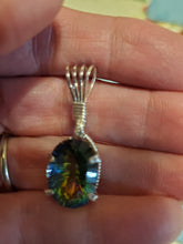 Load image into Gallery viewer, Custom Mystic Topaz Wire Wrapped Necklace/Pendant Sterling Silver