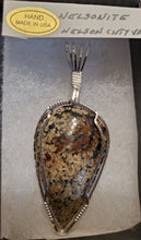 Load image into Gallery viewer, Custom Wire Wrapped Nelsonite Virginia State Stone Necklace/pendant