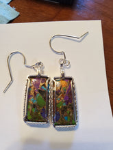 Load image into Gallery viewer, Custom Multi Copper Turquoise Sterling Silver Earring