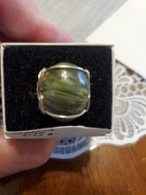 Load image into Gallery viewer, Custom wire wrapped Rebecca Iron Ore Slag Sterling Silver Ring 8 1/2