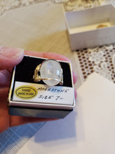 Load image into Gallery viewer, Custom Wire Wrapped Moonstone Ring Size 7 1/2 Sterling Silver