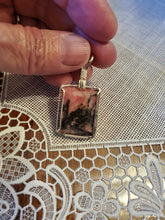 Load image into Gallery viewer, Custom Cut Polished Wire Wrapped Rhodonite Necklace/Pendant Sterling Silver