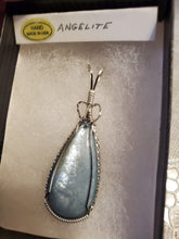 Load image into Gallery viewer, Custom Wire Wrapped Double Sided Angelite Necklace/Pendant Sterling Silver
