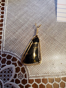 Custom Wire Wrapped Apache Gold Necklace/Pendant 14 Kgf Wire