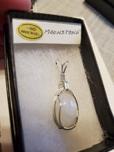 Load image into Gallery viewer, Custom Wire Wrapped Moonstone Necklace/Pendant Sterling Silver