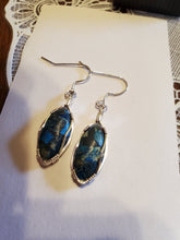 Load image into Gallery viewer, Custom Wire Wrapped Sea Sediment Earrings Sterling Silver