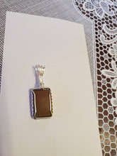 Load image into Gallery viewer, Custom Wire Wrapped Hokie Stone VA Tech Necklace/Pendant Sterling Silver