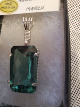 Load image into Gallery viewer, Custom Wire Wrapped Faceted Aquamarine Necklace/Pendant Sterling Silver