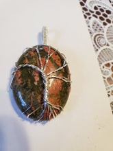 Load image into Gallery viewer, Custom Wire Wrapped Unakite Tree Of Life Necklace/Pendant Sterling Silver