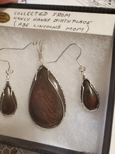 Load image into Gallery viewer, Custom Wire Wrapped Rock Collected From Nancy Hanks Birthplace Set Earrings, Necklace/Pendant Sterling Silver