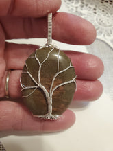 Load image into Gallery viewer, Custom Wire Wrapped Rock Collected From Nancy Hanks Birthplace Tree of Life Necklace/Pendant Sterling Silver