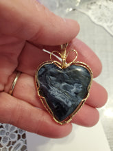 Load image into Gallery viewer, Custom Wire Wrapped Pietersite Necklace/Pendant 14kgf