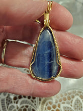 Load image into Gallery viewer, Custom Wire Wrapped Kyanite Necklace/Pendant 14Kgf