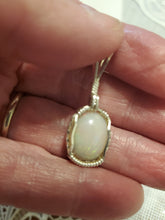 Load image into Gallery viewer, Custom Wire Wrapped Ethiopian Opal Necklace/Pendant Sterling Silver
