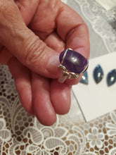 Load image into Gallery viewer, Custom wire wrapped Amethyst Ring Size 6 1/2  Sterling Silver