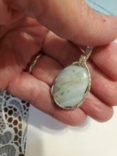Load image into Gallery viewer, Custom Wire Wrapped British Columbia Ocean Jasper Necklace/Pendant  Sterling Silver