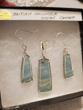 Load image into Gallery viewer, Custom Wire Wrapped British Columbia Ocean Jasper Set Earrings Necklace/Pendant Sterling Silver