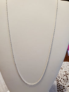 Sterling Silver Chain 18 inch Rolo Link 1.5MM