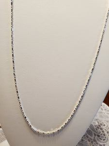 Sterling Silver 1.5 MM Cylinder & Rounded Bead Chain 22 inch. .11 ozt  .925 sterling silver