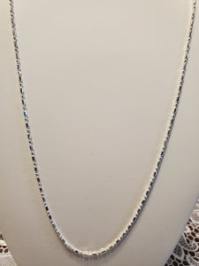 Sterling Silver 1.5 MM  Cylinder & Rounded Bead Chain 18 inch
