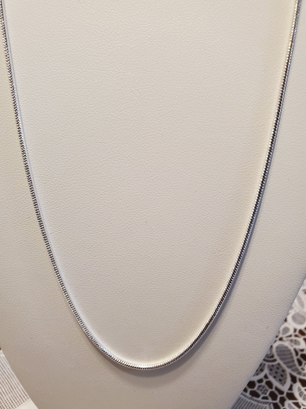 Sterling Silver 18 Inch Round Snake Chain 1.5 MM