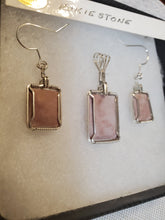 Load image into Gallery viewer, Custom Wire Wrapped Pink Hokie Stone Set Earring Necklace/Pendant Sterling Silver